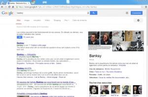 Recherche sur Banksy