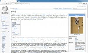 Banksy sur Wikipédia