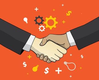 business partnership concepts square