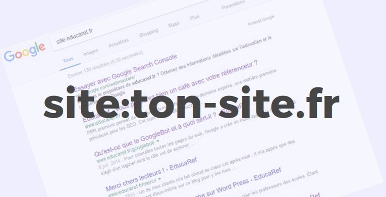 """Utilisation de la commande """"site:"""""""